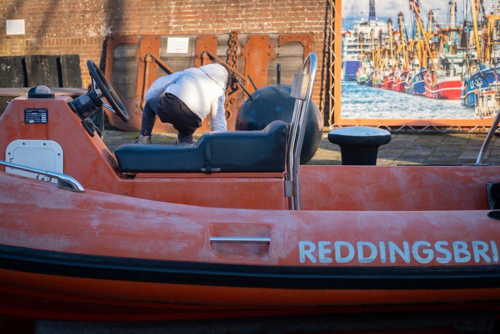 Boot reddingsbrigade Zee- en Havenmuseum IJmuiden