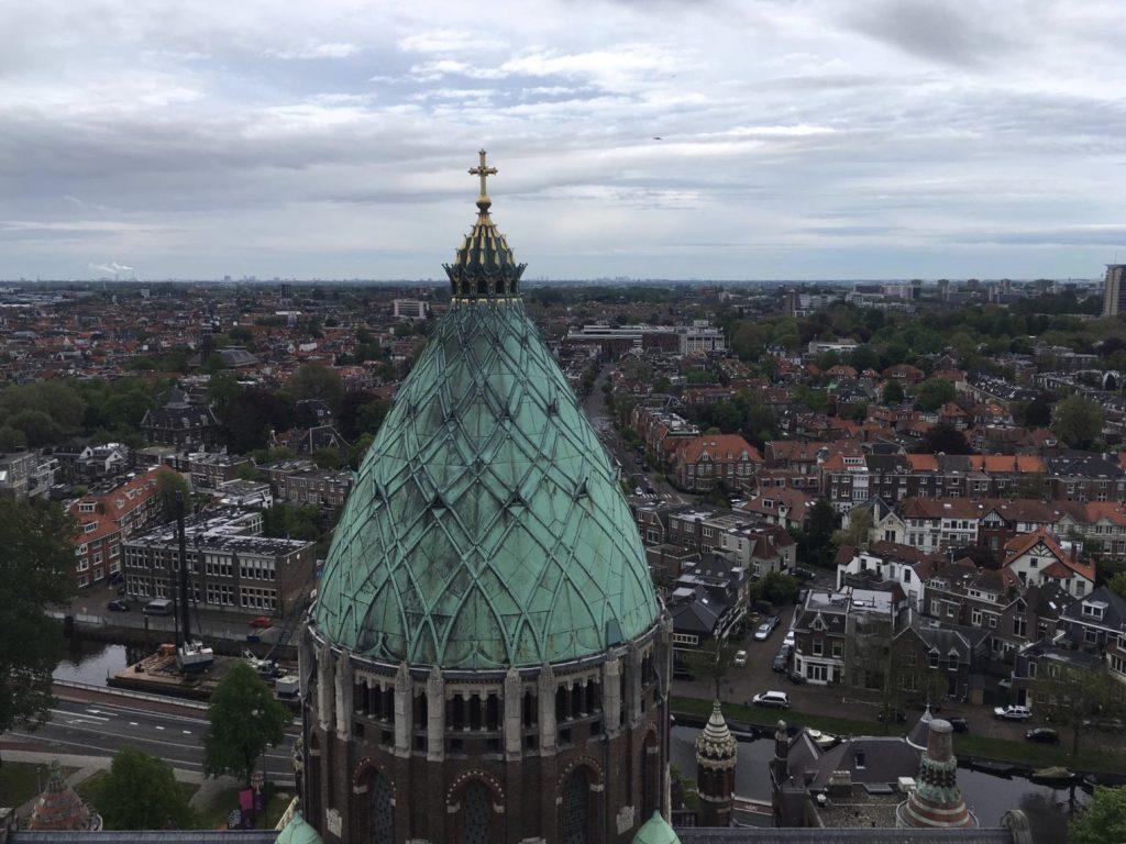 Uitzicht op Haarlem vanaf de KoepelKathedraal