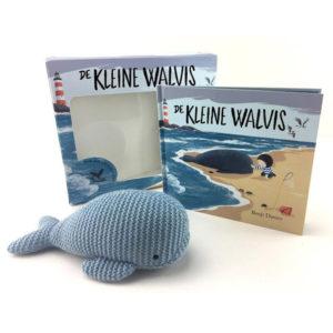 De kleine walvis boekje en knuffel