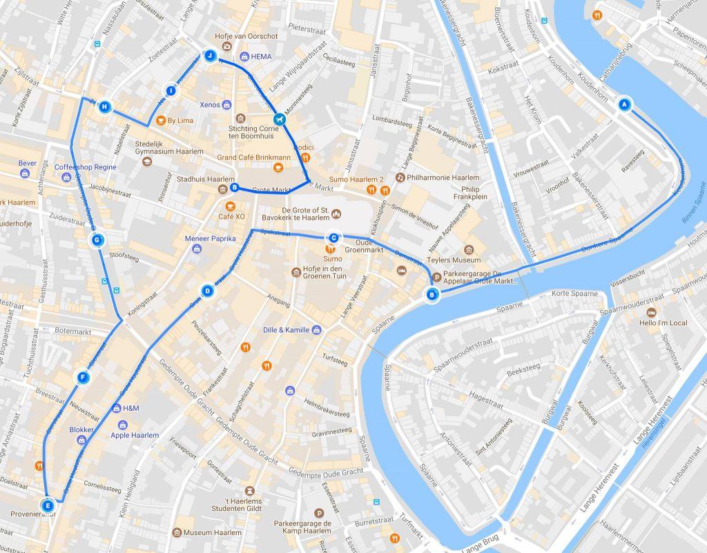 Sinterklaas arrival route Haarlem