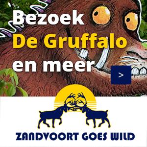 Zandvoort goes Wild Bezoek Gruffalo banner